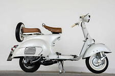 STUNNING VINTAGE VESPA SCOOTER #768 RETRO MODS CANVAS PICTURE WALL ART A1