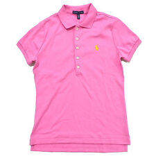 Ralph Lauren Womens Classic Pink Yellow Polo Shirt M W/tag
