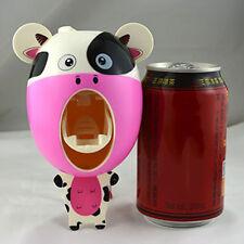 Automatic Toothpaste Dispenser Squeezer Holder Cow Cartoon Bathroom Supplies New