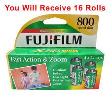 16 Rolls Fuji Fujifilm Superia X-TRA 800 CZ 135-24 Exp Color Print 35mm 2/2017