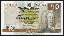 More details for £10 royal bank of scotland banknote a/5 maiden 1987 unc large size rb87