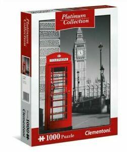 LONDON Phone Box 1000 Piece Jigsaw Puzzle Platinum 69 x 50cm Clementoni