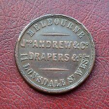 Australie jno Andrew & Co., Victoria 1862 penny token