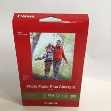 """Canon Photo Paper Plus Glossy II 4"""" x 6"""" Inkjet Printer Paper 100 sheets pack"""