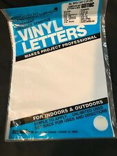 """Permanent Adhesive Vinyl Letters & Numbers 3/4"""" GOTHIC WHITE (A051)"""