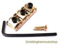 42 mm de ancho Oro Guitarra Eléctrica de bloqueo Tuerca Superior Con Llave Allen Y Tornillos Nuevo