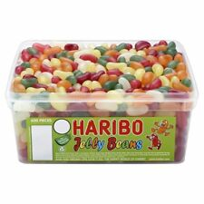 Haribo Jelly Beans Sweets - 600 in a Tub - Party bag filler wedding favour