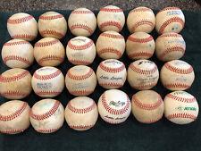 2 dozen used baseballs (all leather 24 baseballs)