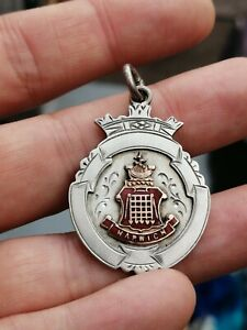 Vintage Hallmarked Silver 'Harwich Charity Cup 1926' Medal / Fob. Football. 11gm
