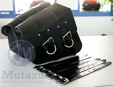 Black A pair PU Leather SaddleBag Saddle Bag for Harley Sportster XL883 1200