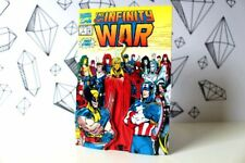 The Infinity War issue #1 marvel comic book cover retro 2D Art Magnet