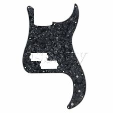 Electric Bass Guitar Parts Black Pearl Pickguard Scratch Plate for PB Bass 3 Ply