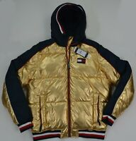 NWT Men's Tommy Hilfiger Puffer Hooded Outerwear Jacket ColdStop Gold Reg $270