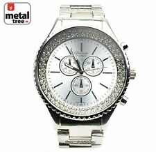 Men's Luxury Hip Hop Fashion Stainless Steel Heavy Metal Band Watches 2678 S