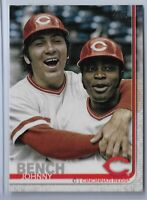 2019 Topps Series 2 Baseball Short Print Variation Johnny Bench #573 SP REDS