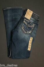 "Silver Jeans 26 31"" Suki Mid Slim Boot stretch bootcut denim NEW THICK STITCH"
