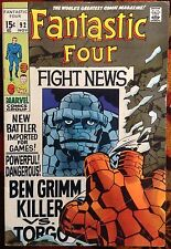 Fantastic Four #92 (Marvel,1969) STAN LEE JACK KIRBY Crystal-Inhumans (VG/FN)