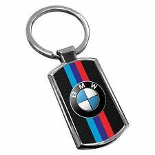 BMW Keyring Chrome Metal New Key Chain Ring Fob Comes With Free Gift Box