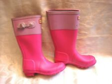 Kids Girl's HUNTER Pink Rain Boots Shoes Size 3