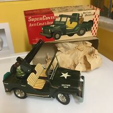 Vintage Suzuki & Edwards <S&E>, Tin B/O Super Control Anticraft Jeep W/Box. Rare