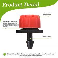 Adjustable Micro Drip Irrigation System Watering Sprinkler Anti Clogging Dripper
