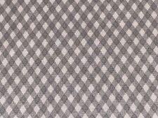 Fabric Gingham Grey Trellis Diamonds Cotton by QT 1/4 Yard 22871