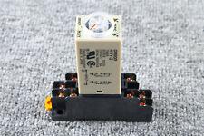 1Pcs H3Y-2 10Sec Delay Timer Time Relay & Base 0-10 Second 12VDC