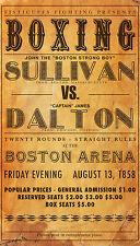A4 Poster – Vintage Boxing Poster Print John Sullivan Vs James Dalton (Picture)