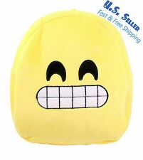 Cute Emoji Grinning Face With Smiling Eyes Kids Children Backpack Bag Satchel