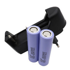 2X 18650 Battery ICR High Drain 3000mAh 3.7V Li-ion Rechargeable + Smart Charger