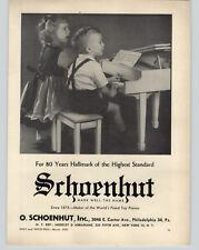 1952 PAPER AD Schoenhut Toy Play Piano 80 Years