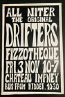 THE DRIFTERS CHATEAU IMPNEY WORCESTERSHIRE UK 1967 CONCERT POSTER Very Rare!