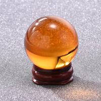 Amber Asian Rare Natural Quartz Magic Crystal Healing Ball Sphere 40mm+ Stand