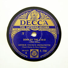 "ARTHUR YOUNG'S SWINGTETTE ""Down By The O-Hi-O"" (E+) DECCA F-7781 [78 RPM]"