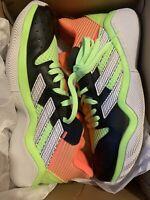 NEW ADIDAS JAMES HARDEN STEPBACK BASKETBALL SNEAKER MEN SHOES BLACK/GREEN SZ 10