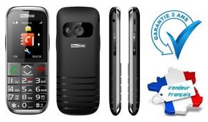Téléphone Mobile Portable Désimlocké Sénior Touche SOS MaxCom MM720BB / MM720