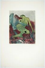 """DOROTHEA TANNING - 1976 Hand Signed Color Aquatint Etching - """"Petite angoisses"""""""