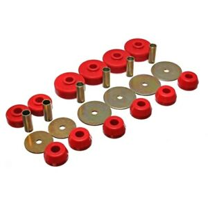 Energy Suspension 8.4101R Body Mount Set Red For 79-88 Toyota Pickup NEW