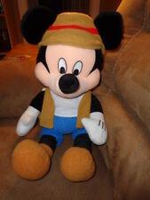 "Mickey Mouse Matterhorn 18"" Disney Stuffed Plush brown hat vest shoes blue pants"