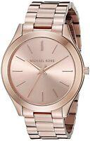 Orologio Michael Kors da donna Collezione Slim Runway MK3197 Acciaio oro rosa