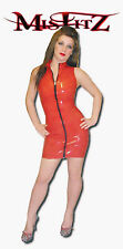 Misfitz sexy rubber latex barbarella dress 2 way   zip size 18  Fetish Club TV