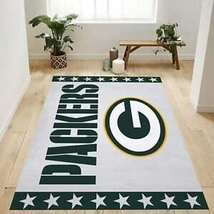 Green Bay Packers Area Rug Floor Carpet Non-Slip Mat Living Bedroom Home Decor