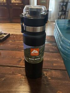 Ozark Trail Vacuum-Insulated Stainless Steel Water Bottles 24oz Black NEW