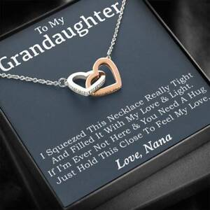 To My Granddaughter Necklace, Granddaughter Gift, Gifts for Granddaughters