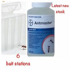 125ml ANTMASTER Ant Bait Liquid Gel Sugar Black House Ant  Poison 6 Bait Station