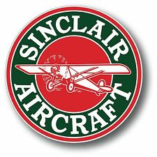 SINCLAIR AIRCRAFT GASOLINE OIL SUPER HIGH GLOSS OUTDOOR 4 INCH DECAL STICKER