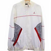 O104 Nike Jumpman Logo Full Zip Windbreaker Jacket White Men's White Cement XL