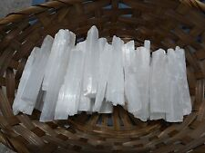 Selenite  Wands/Blades   2 POUNDS   3-5 INCH  Wholesale  Bulk Sticks