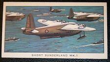 Short Sunderland MK1 Flying Boat  Illustrated  Card