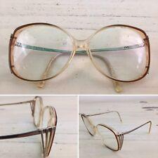 b31416519c ALBERT NIPON - Vtg 1970s Brown   Gold Plastic Angular Grandma Eyeglasses  Frames